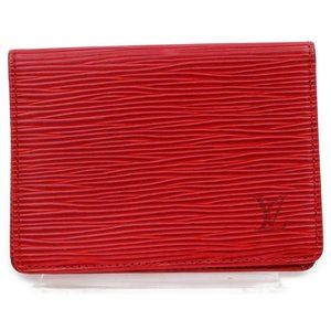 Louis Vuitton 872108 Red Epi Leather Card Case